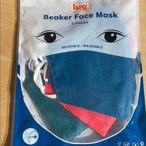 Lug 3 Piece Soft Lined Face Coverings Masks Beaker